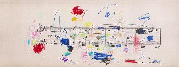 Giuseppe Chiari, Partitura musicale con colore