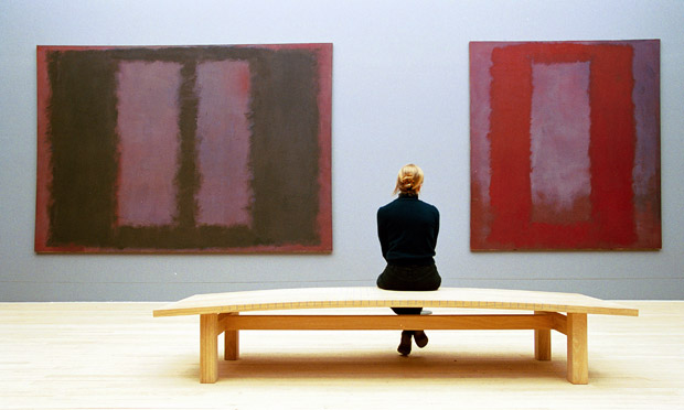 Mark Rothko paintings hanging at Tate Modern in 2000