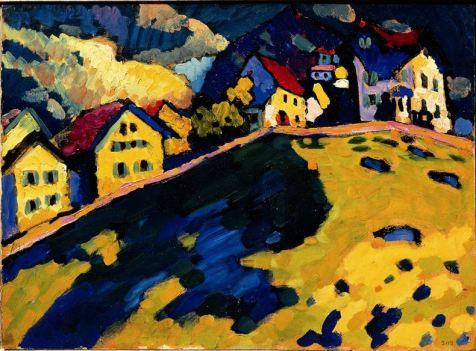 Case-a-Murnau-Paesaggio-estivo-1909-Vasily-Kandinsky